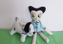 Zoe and Bones zombie doll set