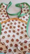 Kids retro apron picnic baskets- size 5/6