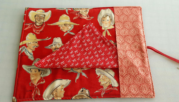 Travel Cutlery wrap - Cowgirl pinups