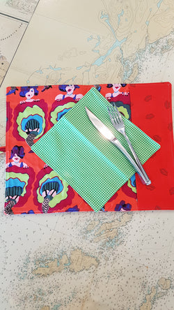 Travel Cutlery wrap - can can girls
