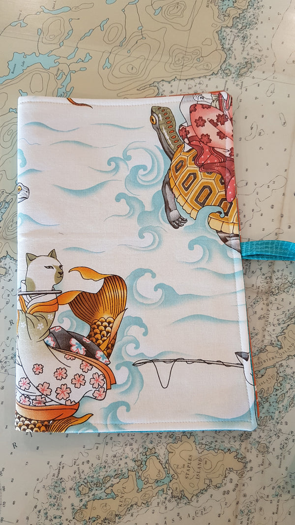 Travel Cutlery wrap - feline fishermen