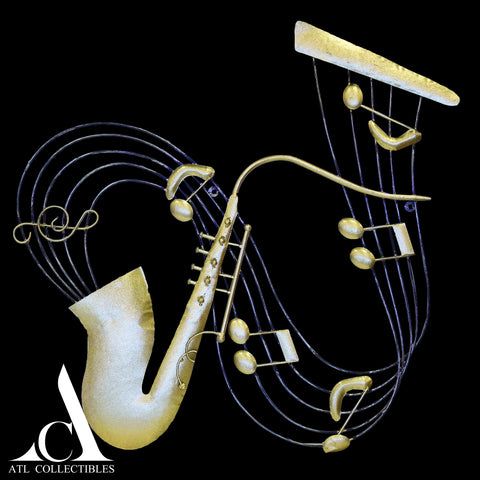 Music Notes With Sax