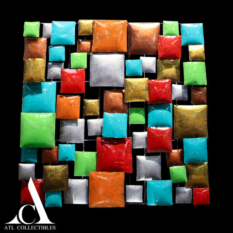 Multicolor Squares Abstract