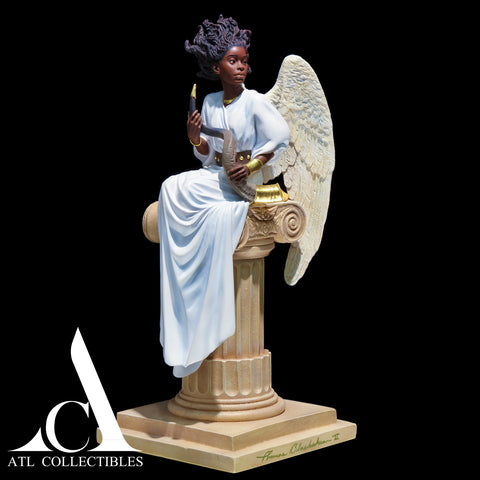 Thomas Blackshear Preparing to Sound The Alarm Figurine First Issue Limited Edition Hand Signed