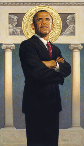 President Obama by Thomas Blackshear Limited Edition Hand Signed