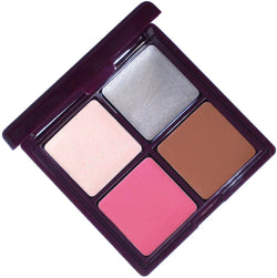 Provocative cream sexy makeup palette! This glamorous compact is a green beauty must with four shades for eyeshadow, highlighter, bronzer, blush and lipstick.