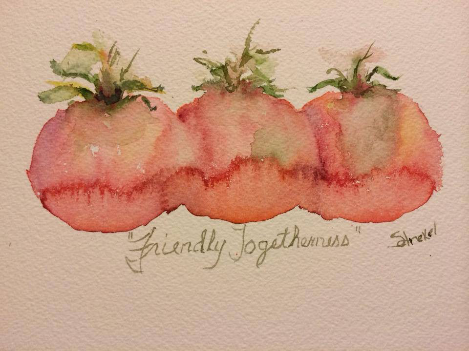 Watercolor  Friendly Togetherness - 8