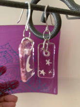 "1"" painted transparent earrings - Various designs/colors"