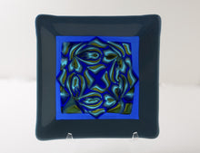 "Blue Rose - 8"" Square Decorative Dish"