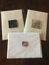 "5"" x 7"" Blank Greeting Cards with Fused Glass Mandela Design"
