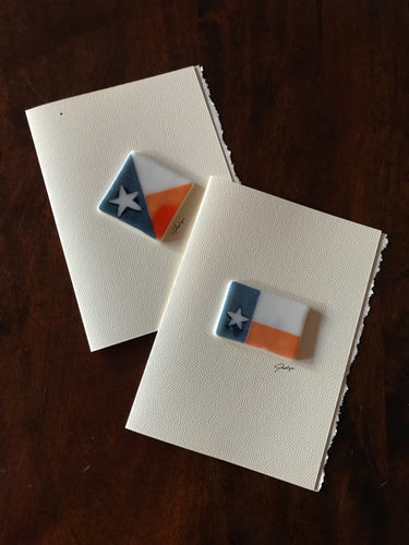 Fused Glass Texas Flag Keepsake on a 5