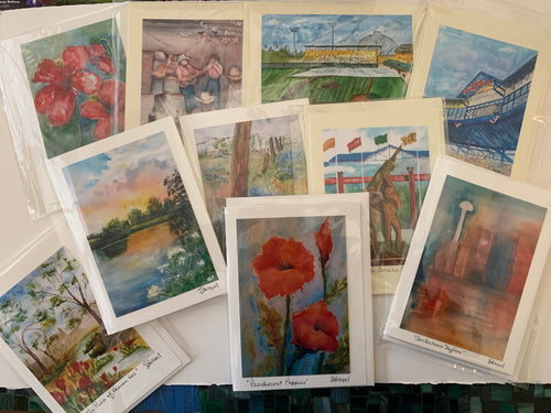 Notecards with Photos of Original Paintings by Sandy