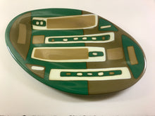 Brown and Green Platter