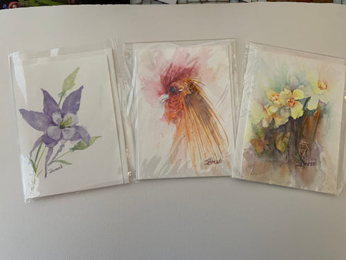 Notecards - Original Watercolor - Assorted