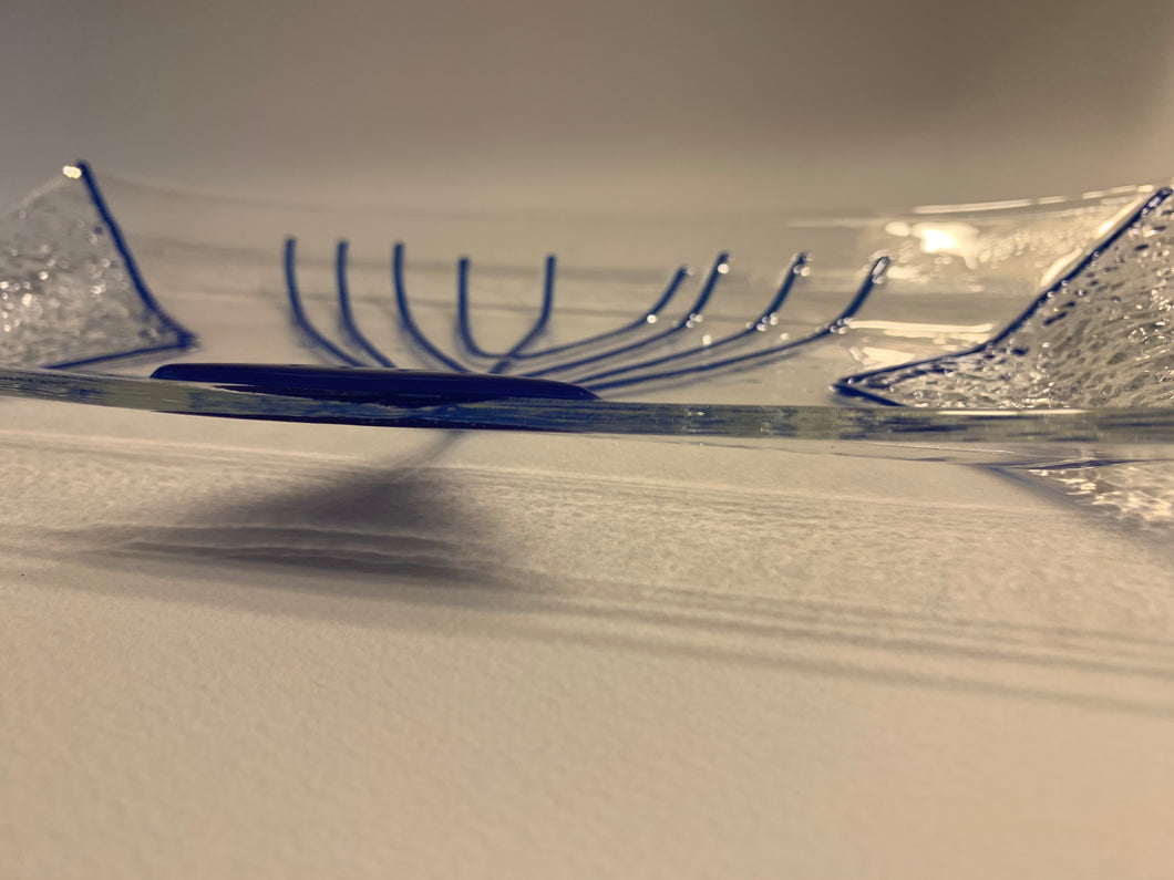 Jewish Menorah calendar, glass menorah,