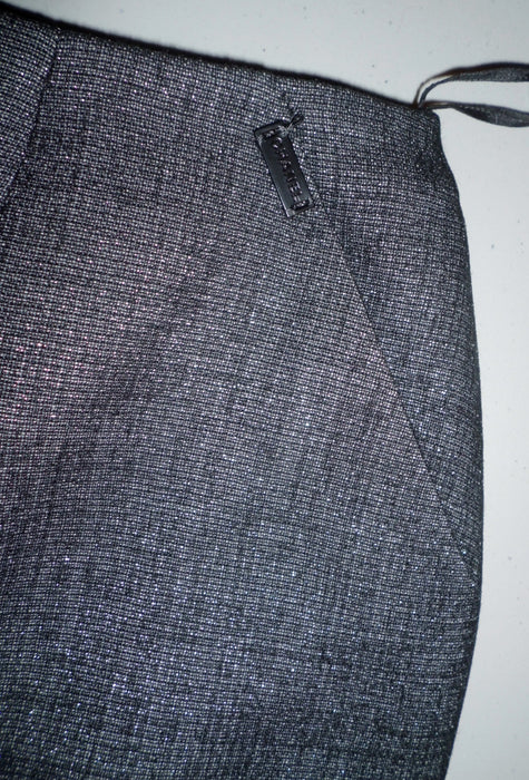 Chanel 2pc Skirt & Long Sleeve Charcoal Suit Size 6/8