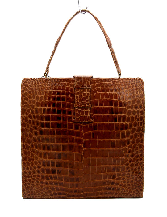 Lucille de Paris Brown Alligator Handbag