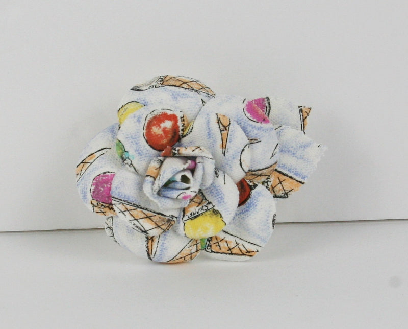 Chanel White Flower Brooch