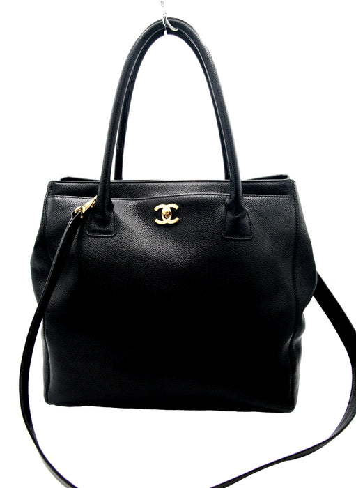 Chanel Cerf Black Leather Tote