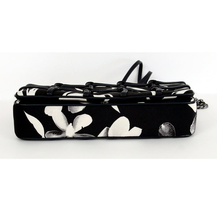 Chanel Flap Spring Paris Runway Black Print Handbag