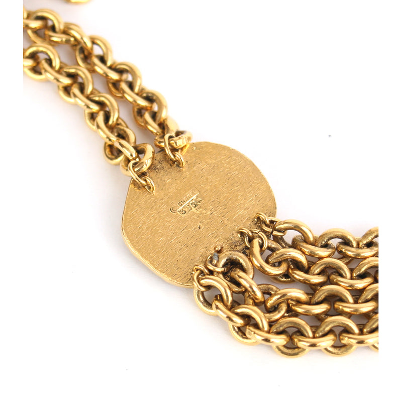 Chanel Signed & Numbered (3534) 1984 Centaur Medallion Chain Necklace -2 Gold-Plated