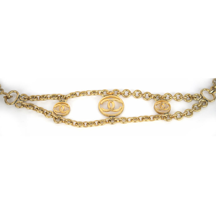 "Chanel Vintage 1980's Gold Chain with ""CC"" Logo Necklace/Belt"