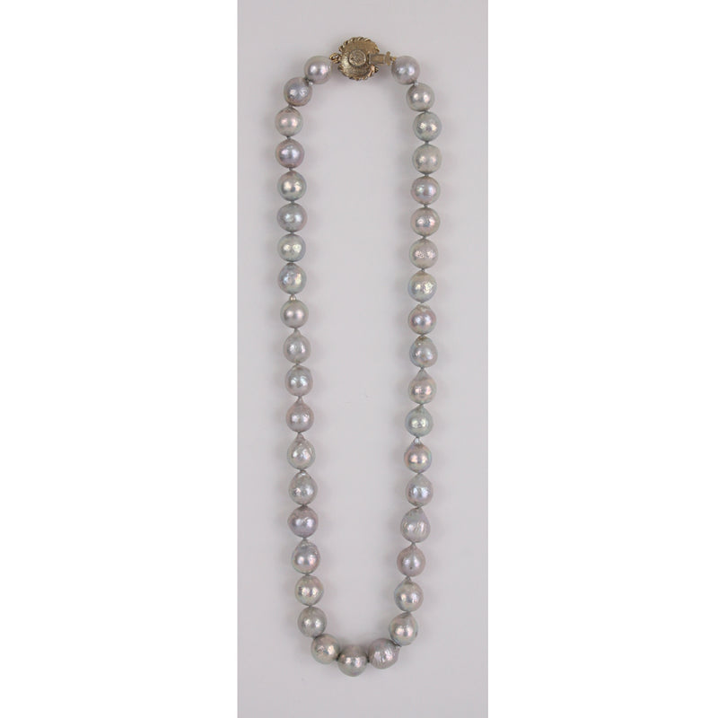 Chanel Grey Baroque Necklace (60+250) Size 24""