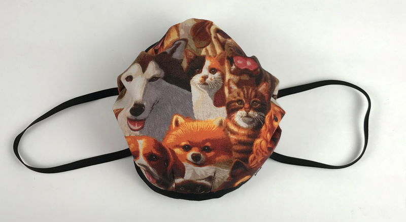 Fabric Face Mask Dog/Cat Print