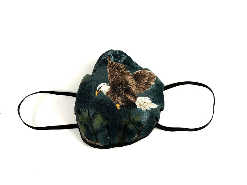 Cloth Fabric Face Mask Eagle Print