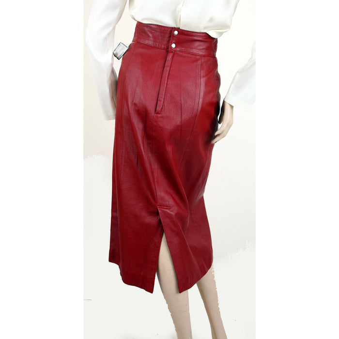 Ciel High Waist Leather Red Skirt Size 6