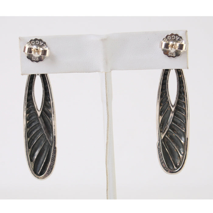 Lagos Sterling Silver Oval Textured Drops Earrings