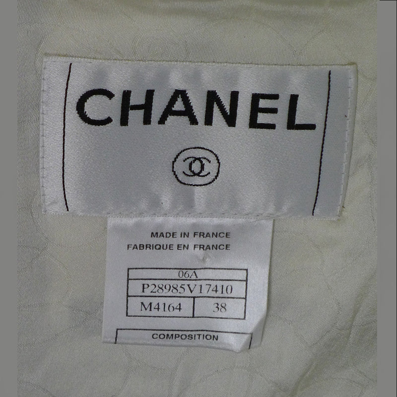 Chanel Two-Piece Skirt & Jacket Suit with Sequin & Tweed Trim Size 6/8