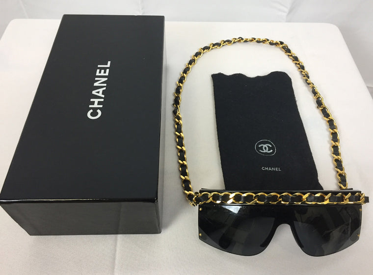 Chanel Vintage Sunglasses with Gold Chain (1992)