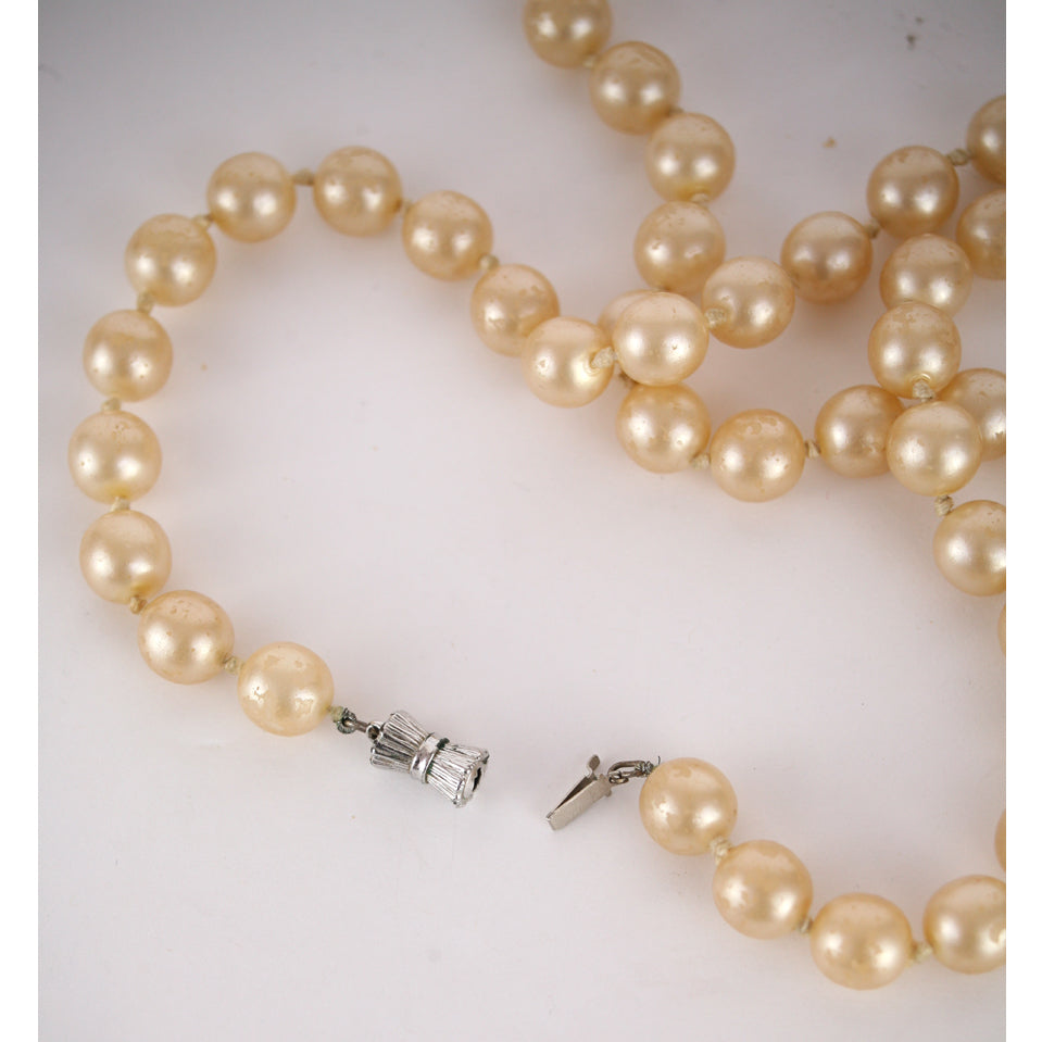 with lustrous for pearls and picture dull american gold necklace of buy antique cream jahaan diamonds women
