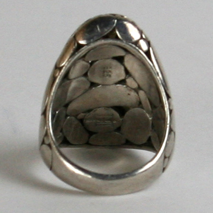 John Hardy Sterling Silver Kali Pebble Ring Size 6