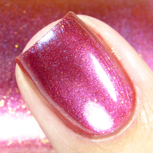 pink shimmer multichrome nail polish crystal knockout arabian palace