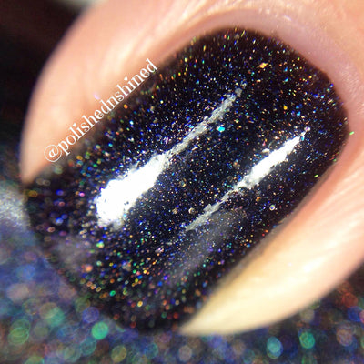 black holo nail polish