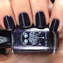 black holo nail polish crystal knockout beauty of the stars fantasy nymphs