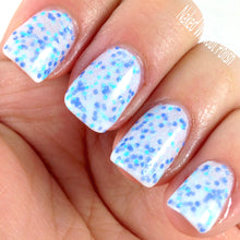 white blue glitter nail polish crystal knockout between wind and water