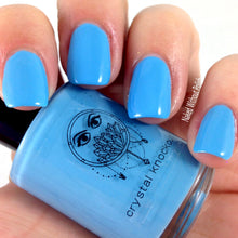 sky blue cream nail polish crystal knockout blue sky marina sailing excursion