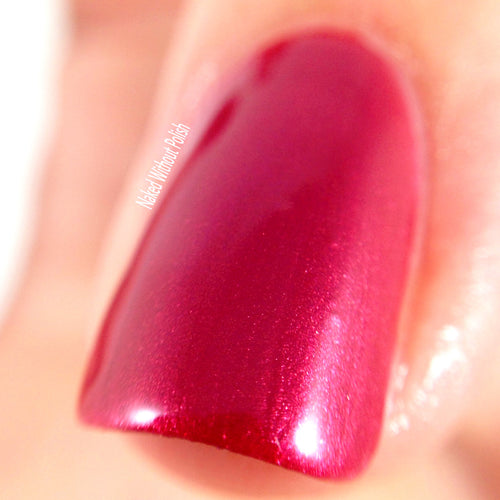 red shimmer nail polish crystal knockout captain of the catamaran sailing excursion
