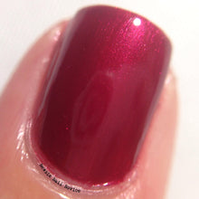 red shimmer nail polish crystal knockout captain of the catamaran