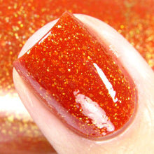 orange yellow thermal color changing mood nail polish crystal knockout charity hope