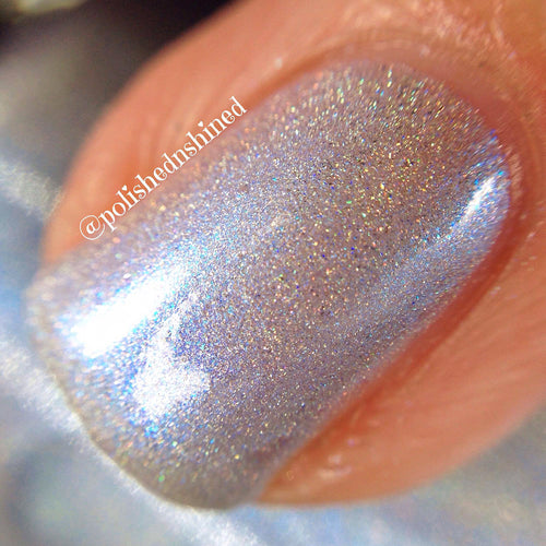 light blue holo nail polish