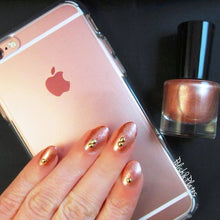 light blush pink shimmer nail polish crystal knockout cloud riders iphone rose gold