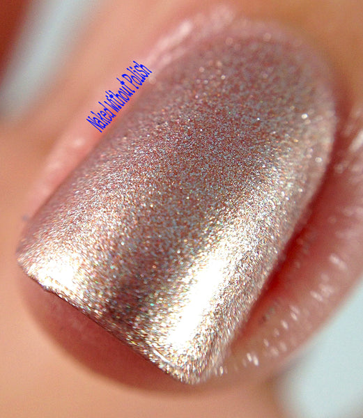 pink metallic nail polish crystal knockout copper roses shimmer