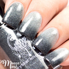thermal black white silver nail polish crystal knockout crossing the moon wild hunt