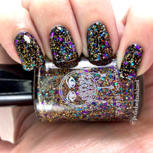 rainbow holo glitter topper purple gold blue crystal knockout divine disco