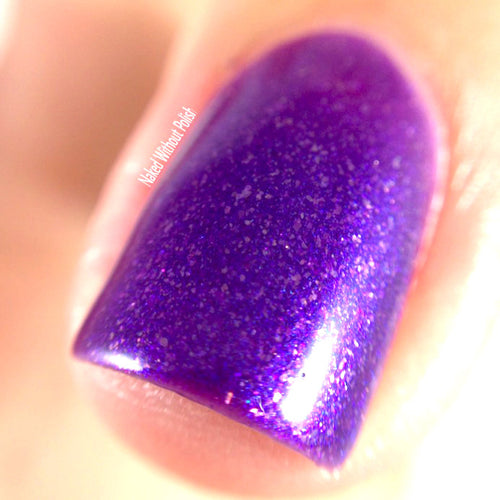 purple shimmer nail polish crystal knockout dragon realm storyteller magic