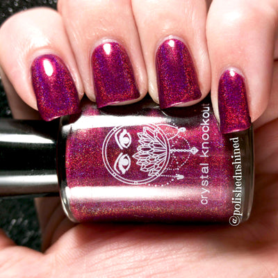 pink fuchsia holo nail polish crystal knockout festival of fate